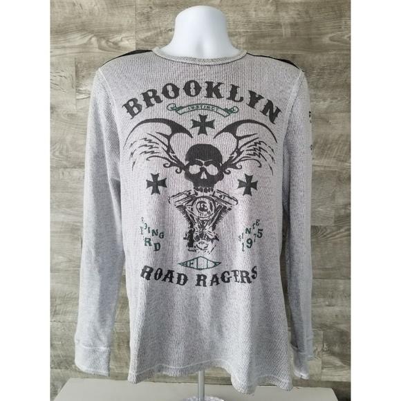 Helix Other - Men's Helix Long Sleeve Shirt SZ M Gray Brooklyn
